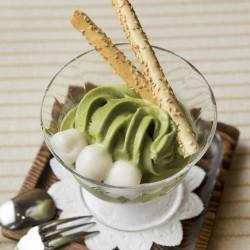 あんみつと抹茶のシルククリームセット(東店のみ)