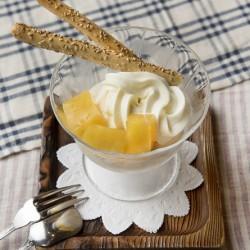 オレンジゼリーのシルククリームセット(東店のみ)